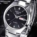 2016 Top Brand Luxury Business Watches Stainless Steel Men Calendar Waterproof Watch Women Dress Quartz Wristwatch Hodinky Rolej