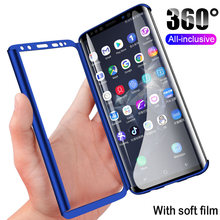 Hot 360 Full Cover Phone Case For Samsung Galaxy S10 S10E S9 S8 Plus S7 Edge Shockproof Case For Samsung Note 9 8 With Soft Film(China)
