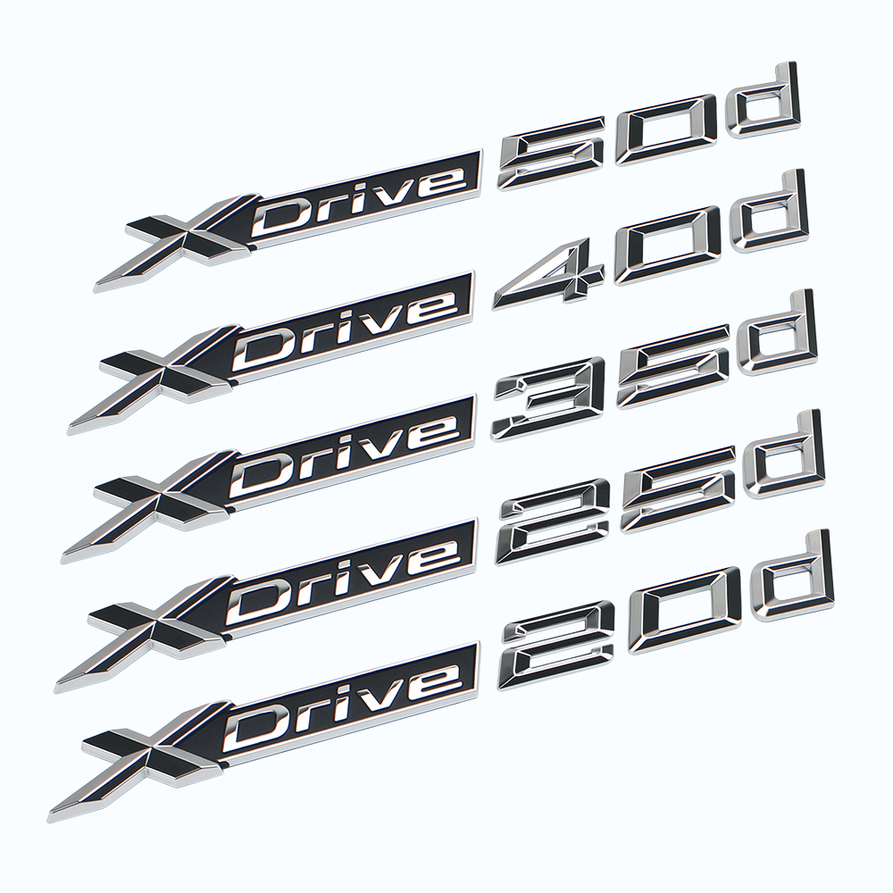 X <font><b>Drive</b></font> 20d 25d 35d 40d 50d Car Sticker for <font><b>BMW</b></font> X1 X2 X3 X4 X5 X6 Z3 M5 M6 Auto Letter <font><b>Emblem</b></font> 3D Stickers Decal image