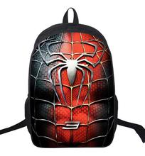 цена на 16 inch Super Hero Spiderman Kids Backpacks School Bags Primary Boy Mochila Children Backpack For Boys Teenagers
