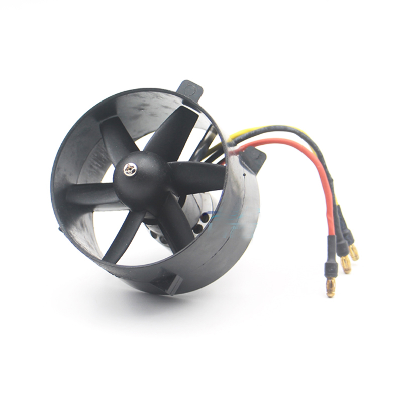 64MM Ducted Fan EDF 60000RPM 3 4S 2853 48000KV Motor EDF Set w/ 6 blade Propellers Culvert For RC T45 Jet Aircraft Glider Parts-in Parts & Accessories from Toys & Hobbies    1