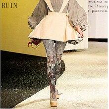 الخراب المرأة الجوارب الكرتون أنيمي الساحرة مطبوعة جوارب طويلة الإناث فتاة الجوارب