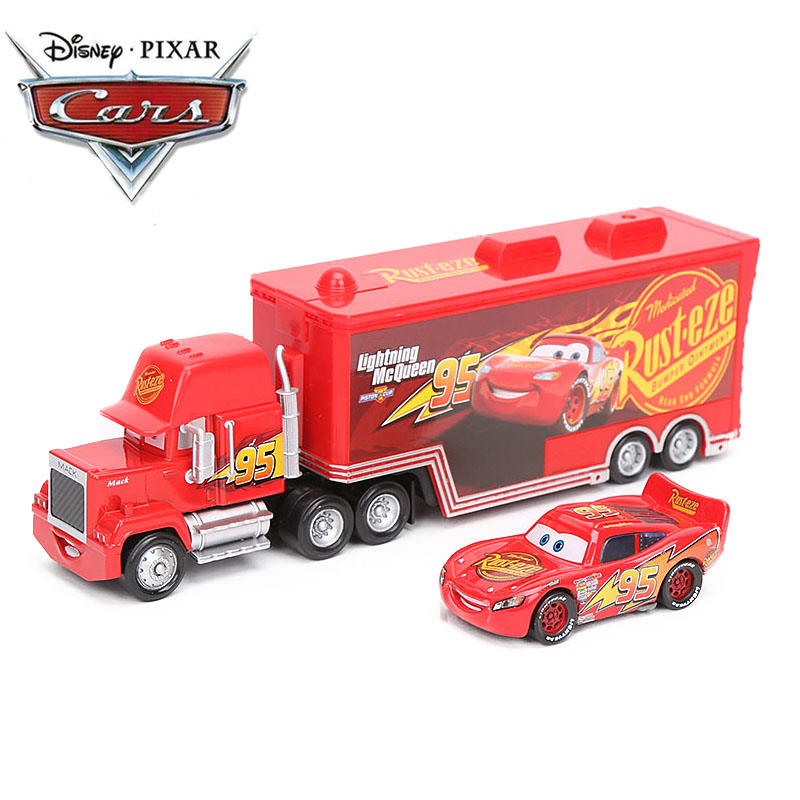 Disney Pixar Cars 3 Toys 1:55 Diecast Lightning McQueen Mack Uncle Truck The King Chick Hicks ABS Car Model Toy NO 95 Rusteze