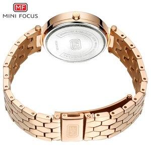 Image 5 - MINI FOCUS العلامة التجارية الفاخرة موضة ساعات نسائية كوارتز سيدة ساعة اليد النسائية السيدات Relogio Feminino Montre فام الذهب الوردي