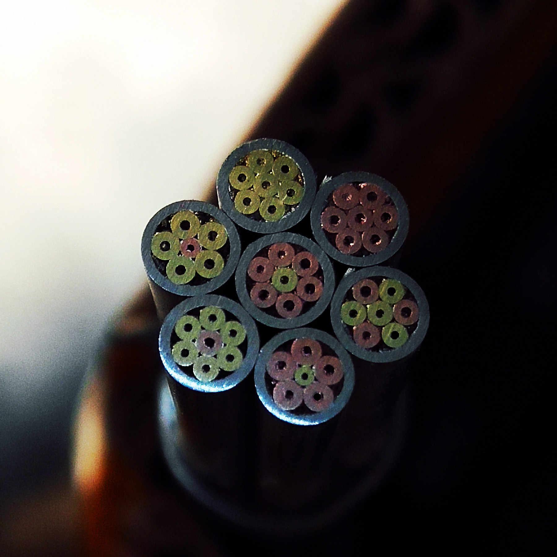 4mm mosaic keling Pisau menangani sekrup Kacang kuningan tembaga merah tembaga Pin nail diy EDC