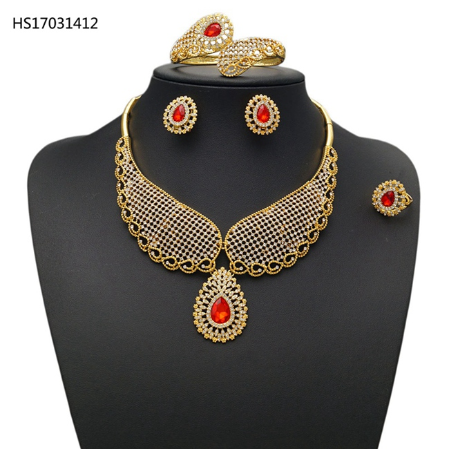 YULAILI African Jewelry Set Dubai Gold Accessories for Women Round Wedding Pure Gold Color Ladies Costume JewelleryYULAILI African Jewelry Set Dubai Gold Accessories for Women Round Wedding Pure Gold Color Ladies Costume Jewellery