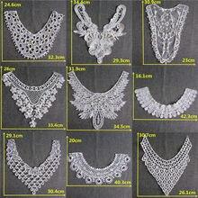 a2b44d8aaf96 Venta caliente Floral encaje Collar de tela Trim DIY bordado encaje Escote  de tela Applique costura