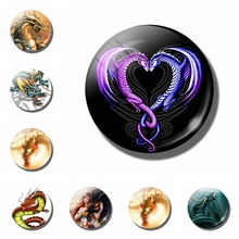 Dragon 30 MM Art Fridge Magnet Glass Gems Cartoon Magnetic Refrigerator Stickers Home Decoration