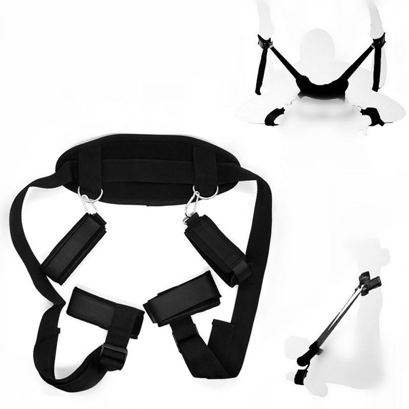 3-Styles-BDSM-Bondage-Sex-Handcuffs-Leg-Open-Restraints-Neck-Handcuffs-Ankle-Cuff-Straps-Erotic-Accessories