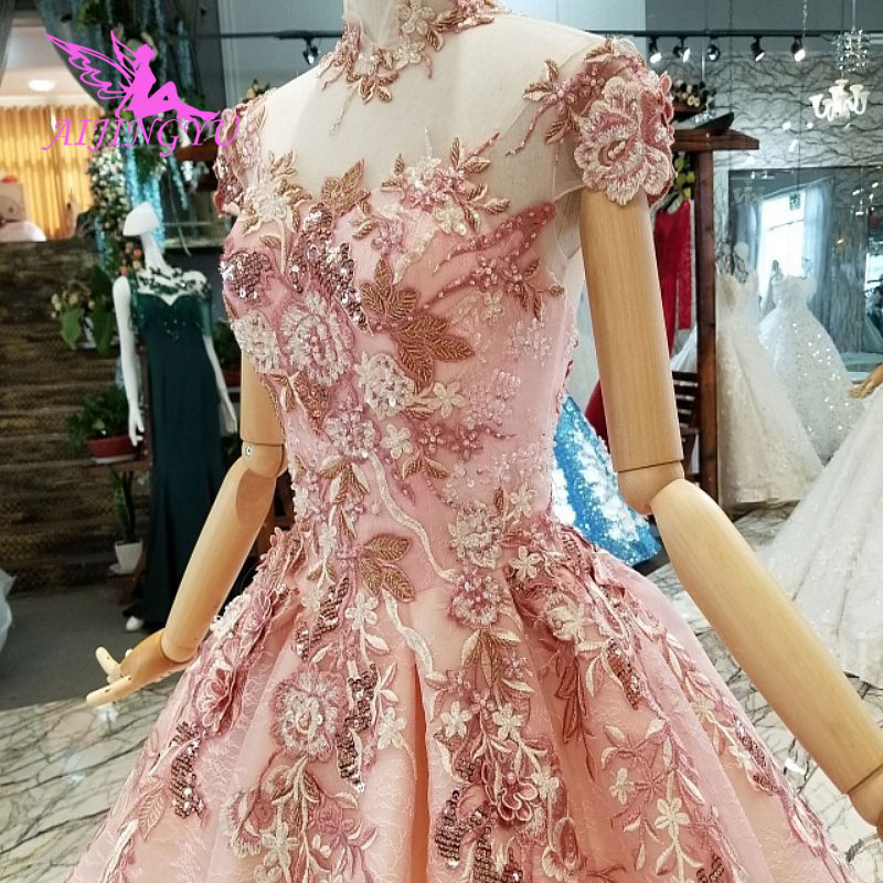 AIJINGYU Simple White Dress Gown Luxury Shop China Frocks 2019 Ball Wear For Bride Online Sale Vintage Bridal Gowns
