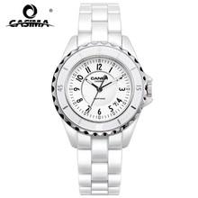 2016 δημοφιλής Κίνας-μάρκα CASIMA Μόδα Casual χαλαζία Γυναίκες ρολόι κυρίες κομψό κεραμικό Γυναικεία ρολόγια Water Resistant100m 6702