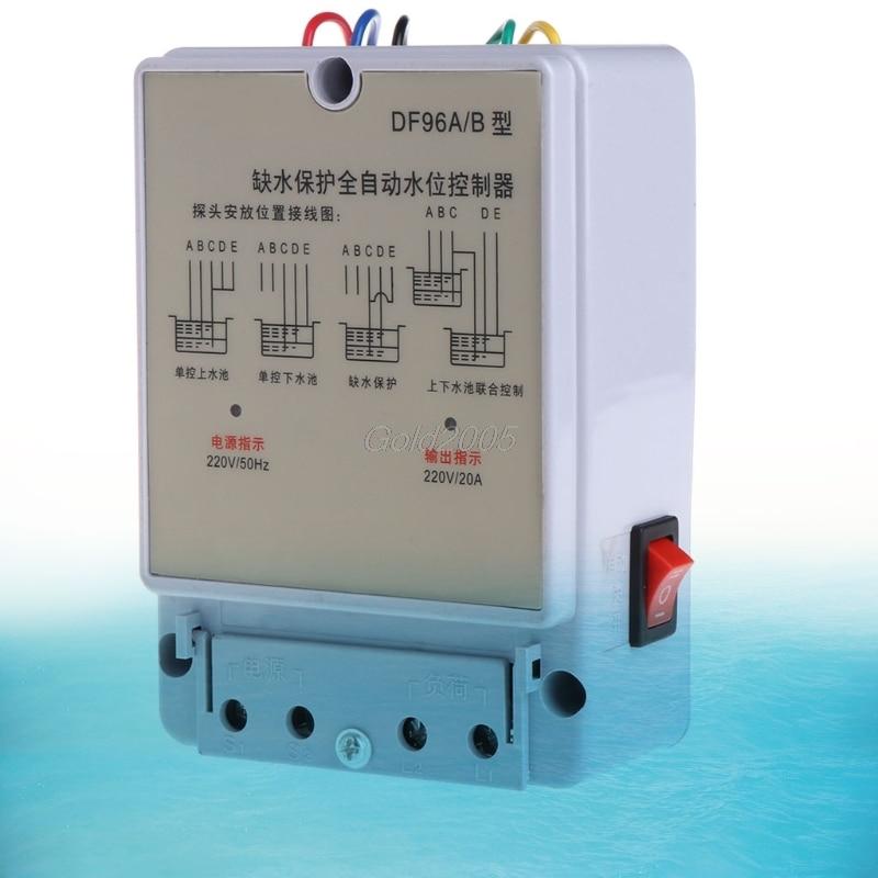 DF-96A/B Automatic Water Level Controller Pump Cistern Auto Liquid Switch 220V Apr Drop Ship new 20 amp automatic electric pump float switch dc12v level controller r11 drop ship