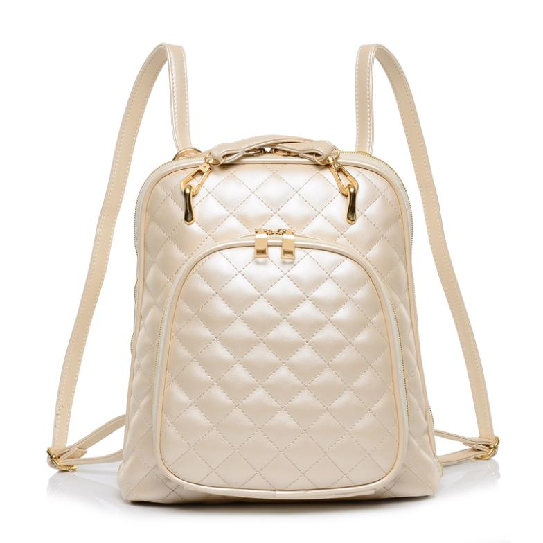 ФОТО 2017 New Women Bag Trend Pearl Small Fragrant Wind Quilted Fashion Backpack Factory Outlets 5 colors