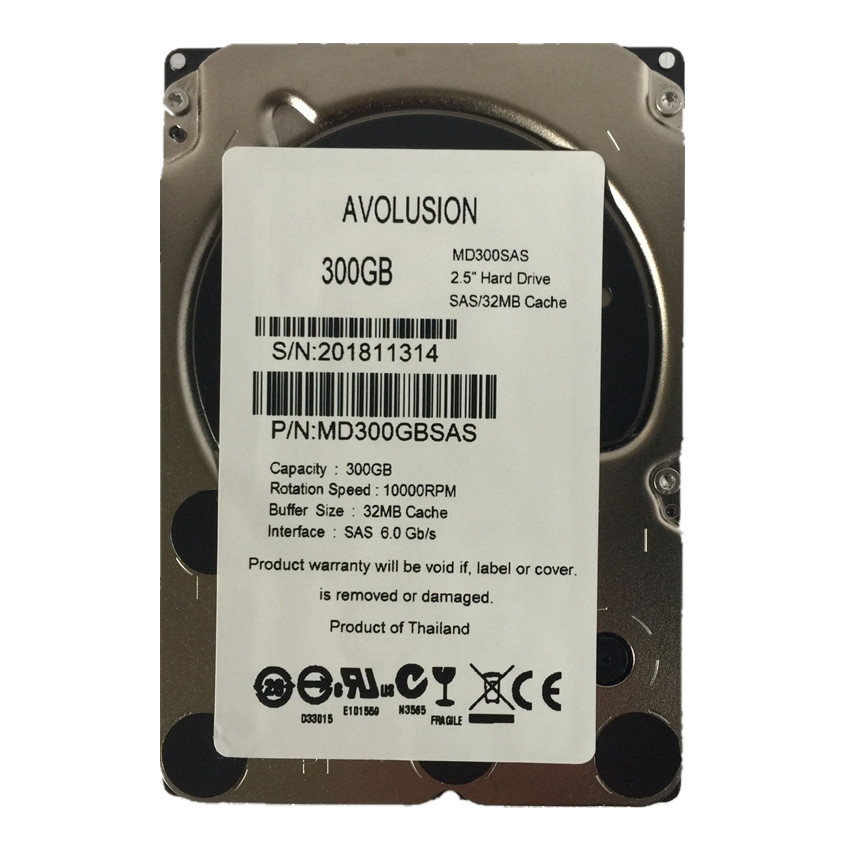 300 GB 10K SAS 6 GB / s 2,5 pollici Internal Enterprise Hard Drive Server HDD Garanzia 1 anno