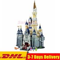 Совместимость Legoingly 71040 Золушка Принцесса замок город Набор Модель Building Block DIY игрушки на день рождения рождественские подарки