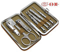 7 in 1 Nail Clipper Kit Nail Care Set Pedicure Ear pick Utility Stainless Steel Manicure Set Tools Free Shipping