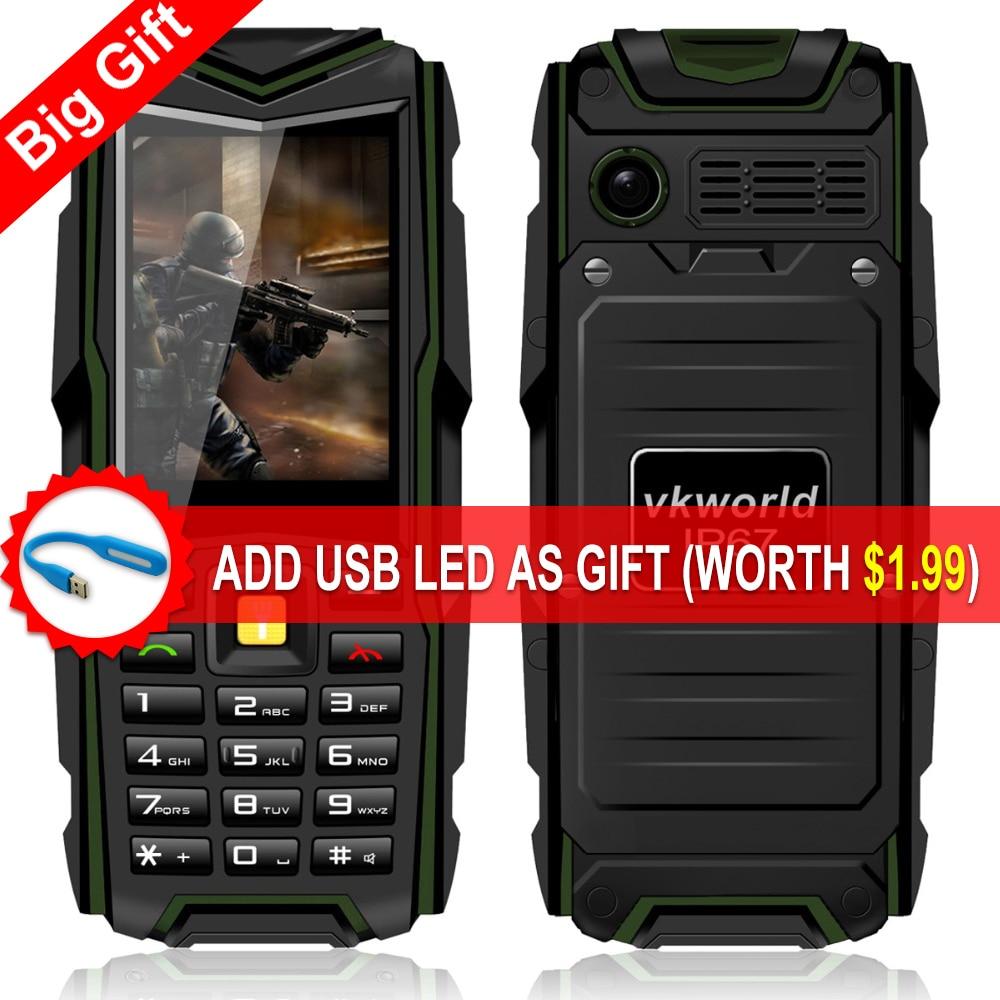 Original VKWorld Stone V3 2.4'' Waterproof Phone IP67 Dustproof Shockproof Dual Sim Card 5200Mah Outdoor Cell phone With Gift