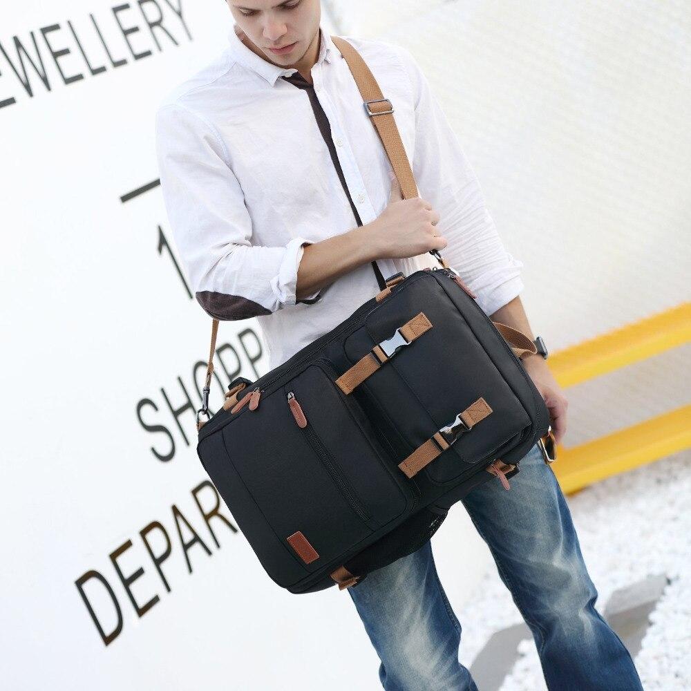 Sac à dos Convertible sac Messenger sac à bandoulière mallette d'affaires sac à dos de voyage sac à main multifonctionnel sacs pour ordinateur portable 17.3 17 - 4