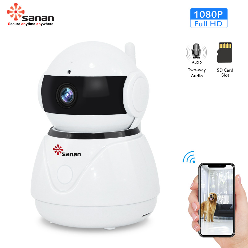 Sanan 1080P Drahtlose Mini Kamera Zwei-wege Audio Wifi CCTV Kamera IR Nacht Vision Überwachungs Kamera Für Home Wifi kamera Danale