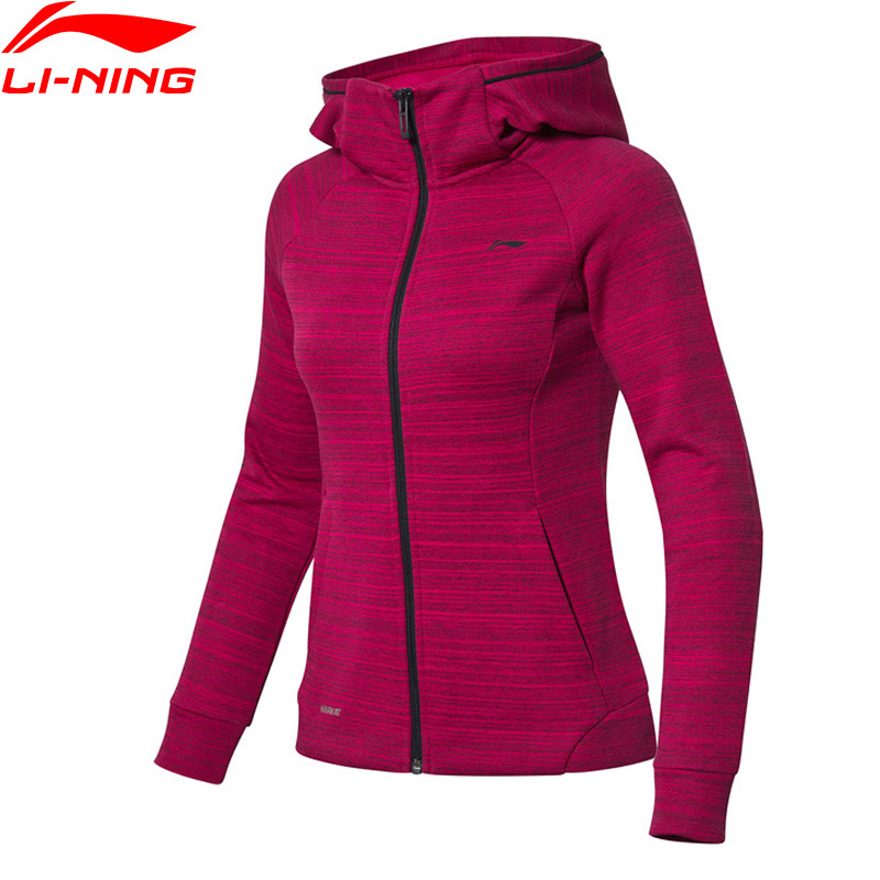 Rational Li-ning Frauen Ausbildung Serie Hoodie Winter Warm Slim Fit 85% Baumwolle 15% Polyester Futter Sport Pullover Mantel Awdn814 Trainings- & Übungs-sweater Hemden