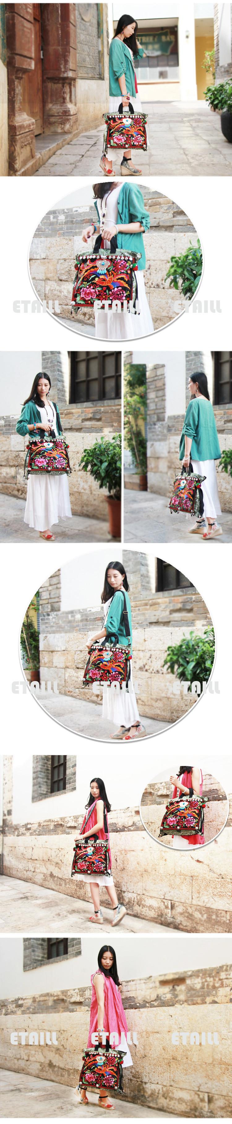 Chinese Style Cotton Handbag Embroidery Ethnic