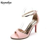 2018 Simple Women Summer Shoes Sandals Thin Heel Open Toe Sandals Black Gray Rose 5 Colors
