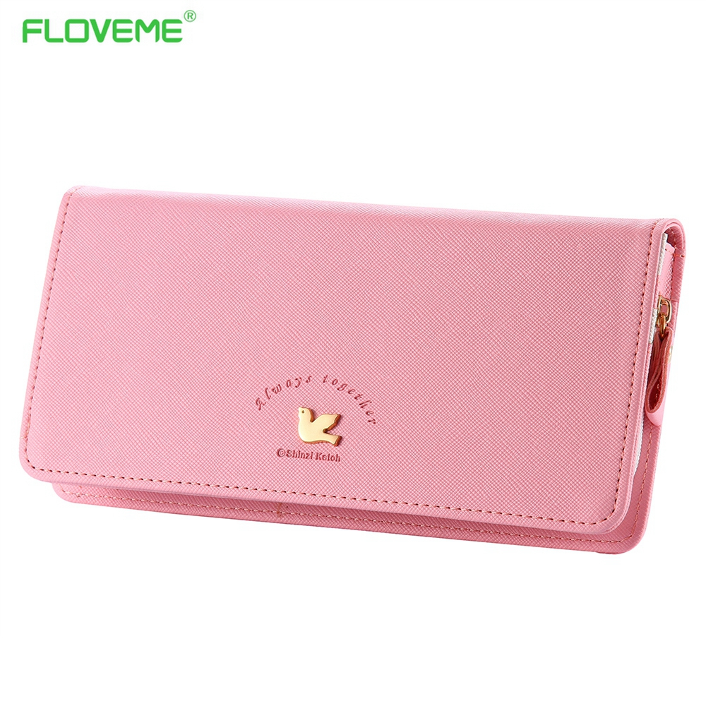 FLOVEME General Wallet Case For iPhone 7 6 6s Plus 4s 5s 5c SE Samsung Galaxy