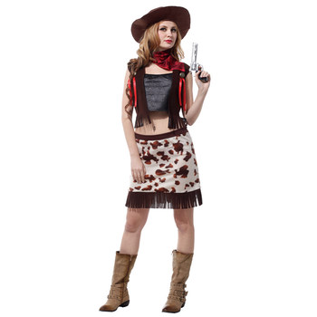 Cowboy Costume Adult Women Wild West Cow Girl Costumes for Teen Girls Halloween Purim Party Carnival Cosplay 1