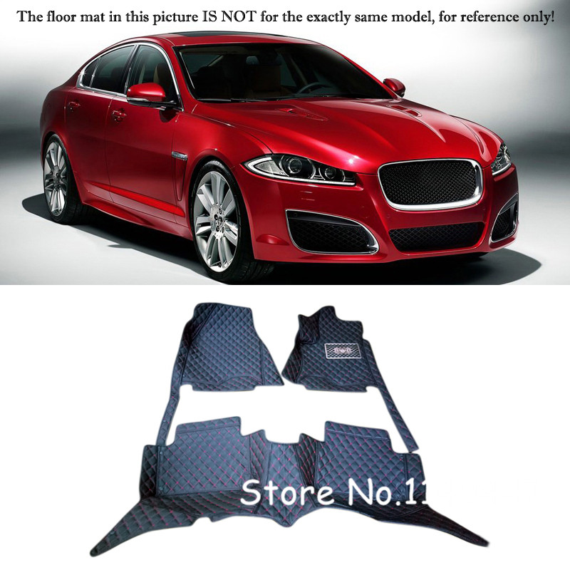 Accessories  Interior Leather Custom Car Styling Auto Floor Mats & Carpets Pads For Jaguar XF 2009 10 11 12 13 14 2015 3d trunk mat for peugeot 508 waterproof car protector carpet auto floor mats keep clean interior accessories