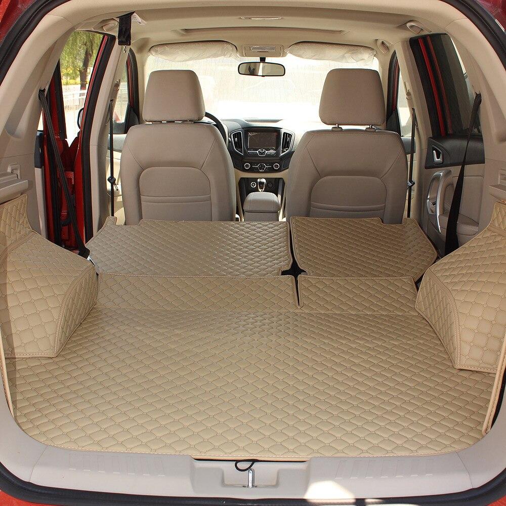 Pas d'odeur en gros entouré imperméable à l'eau antidérapant tapis de coffre de voiture tapis durables pour CadillacSRX VolvoXC90 FordExplorer