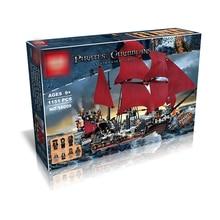 DHL 16009 серия «Пираты» Королева Анны мести модель строительные блоки Набор совместимы 4195 классический пиратский корабль игрушки для детей