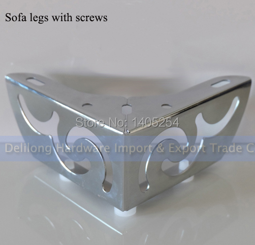 Flower Patten Furniture Legs Iron Coffee Table Foot TV Cabinet Foot Sofa  Feet Of Metal Chrome