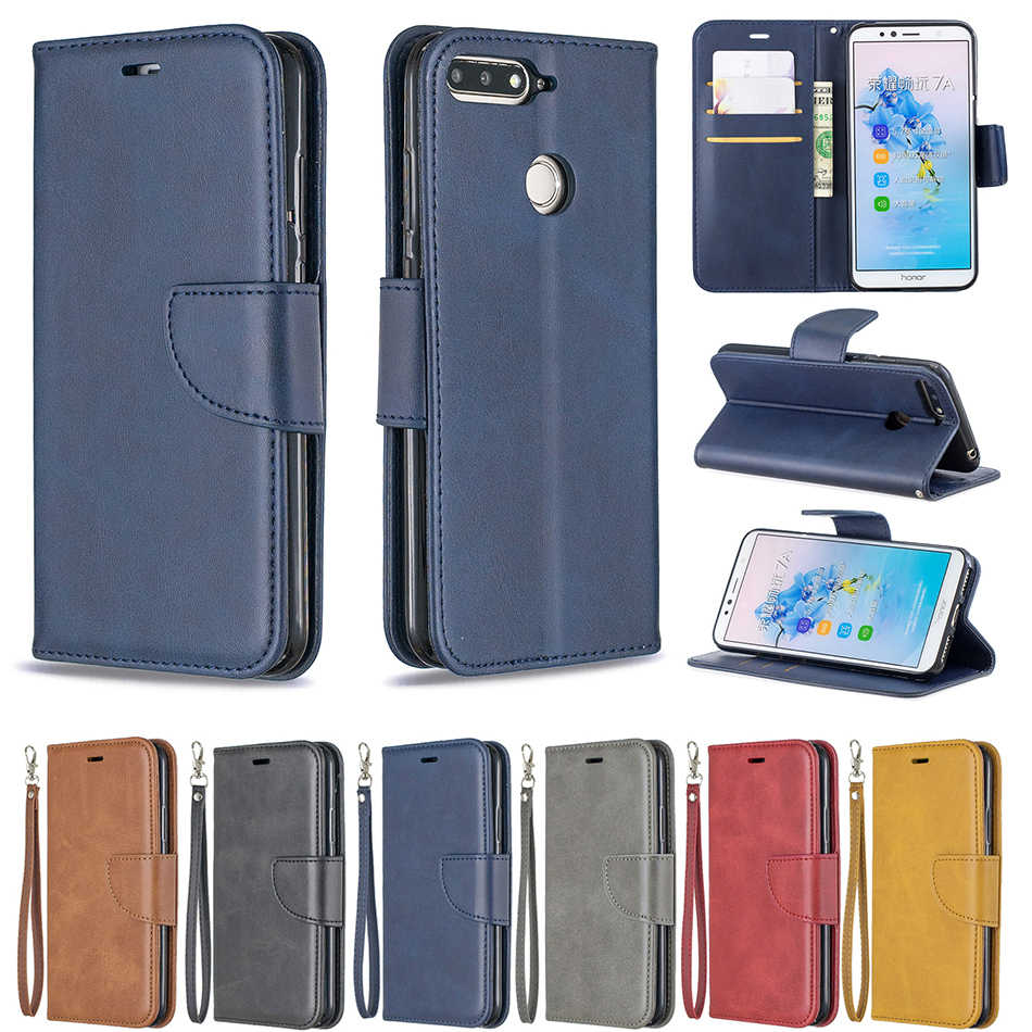 Phone Case For Huawei Y5 III Y6 2017 Y7 Pro 2019 2018 Honor 7A 7C Pro Leather Covers For huawei P9 Lite Mini Magnetic Flip Coque
