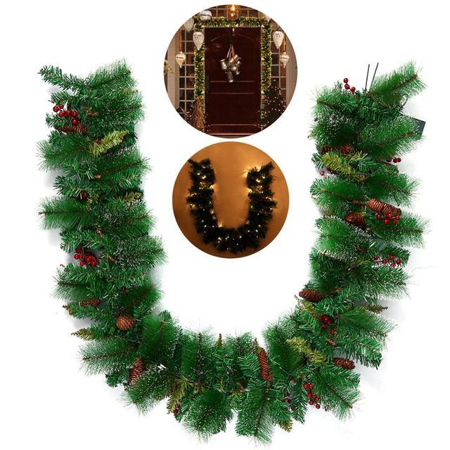BESTOYARD Kerstkrans Decoratieve Guirlande met Pine Cone Acorn ...