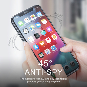 Image 5 - Baseus verre de protection Anti éblouissement pour iPhone XR Xs Max protecteur décran 0.3mm 3D couverture complète verre trempé pour iPhone X Xs