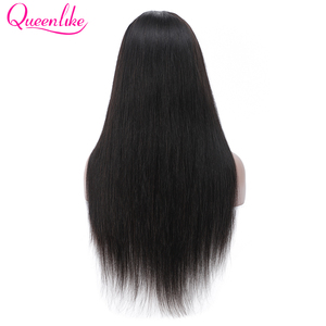 Image 2 - Brazilian Straight 13x4 Lace Front Wig With Baby Hair Natural Hairline For Women Queenlike Remy Lace Front Human Hair Wigs