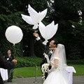 20 шт./лот 104*48 см Алюминия Гелий Голубь Украшение Свадьбы Шарами Белый Голуби Шар Летающий Белый Шар Классический Toys TD0009