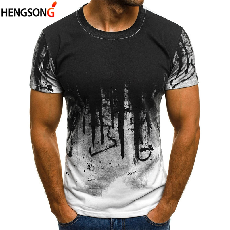 3XL Plus Size Men's T-Shirt Male Hiphop Tops Tees Streetwear O Neck Short Sleeve Fitness Tshirts Print Camouflage Men T Shirts