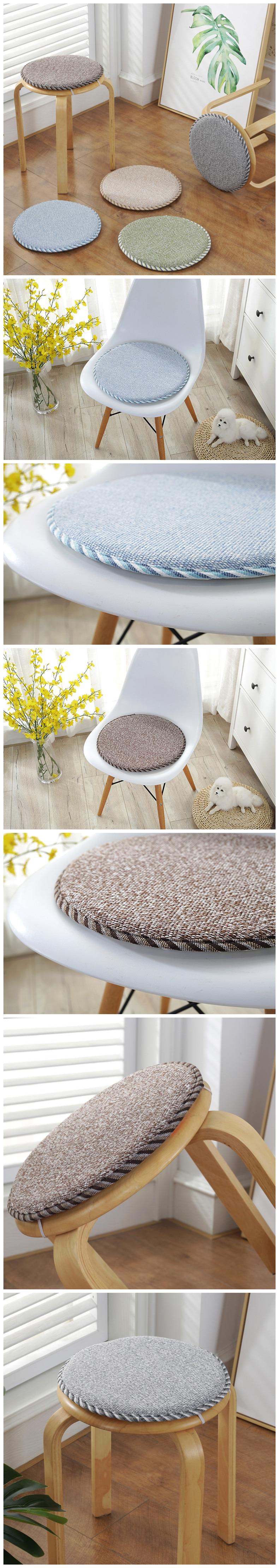 Winter Round Chair Cushion Foam Super Soft Seat Cushion Home Office Decor Throw Pillow Dinning Stool Cushion Anti-slip Sit Pad