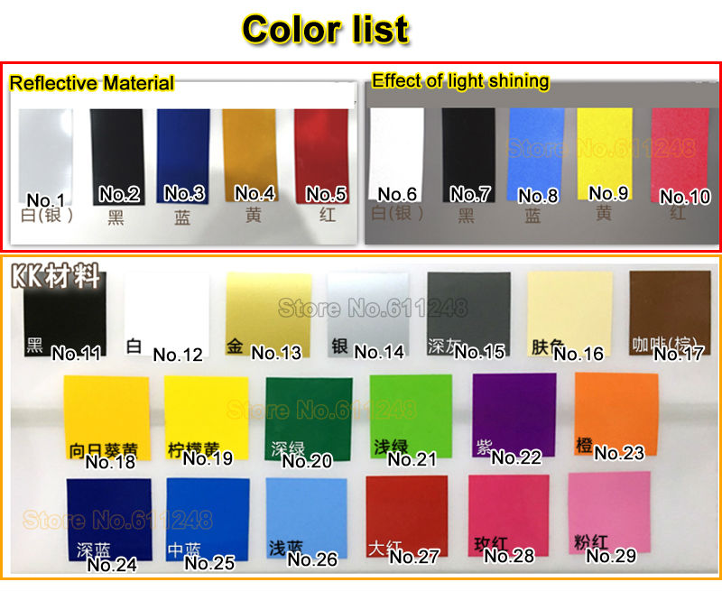 color list
