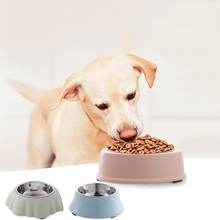 1PC Cute Stainless Steel Dog Feeder Drinking Bowls 4 Style Non-slip Pet Food Bowl Cat Supplies 29