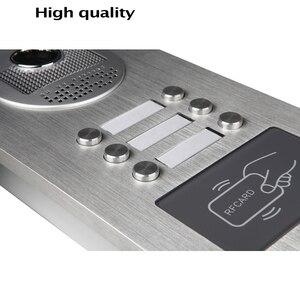 Image 5 - Wired Home 7 zoll TFT Farbe Video Intercom Tür Telefon System RFID Kamera Metall 700TVL mit 2/3/ 4 Monitor für Multi Wohnungen
