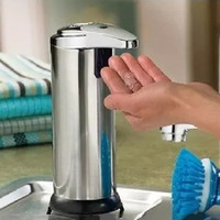 Home Eco Friendly Stainless Steel Hands Free Automatic IR Sensor Touchless Soap Liquid Dispenser 280ML Metal