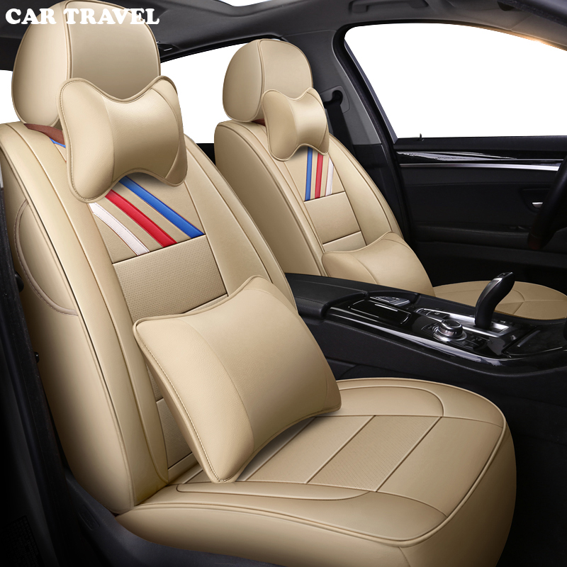 Genuine Leather auto custom car seat cover For peugeot 206 407 508 308 301 3008 2017 205 106 307 207 2008 4008 5008 car seats in Automobiles Seat Covers from Automobiles Motorcycles