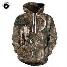 Лесной Олень 3D толстовки для мужчин и женщин хип-хоп толстовки зима Осень Толстовка Пуловер Спортивные костюмы повседневное с круглым вырезом с капюшоном уличная одежда