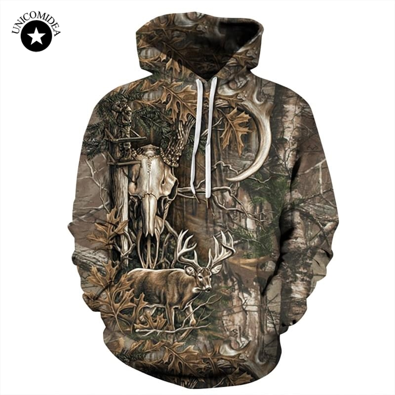 Forest Deer 3D Hoodies Men Women Hip Hop Sweatshirts Winter Autumn Hoody Pullover Tracksuits Casual Crewneck Hooded Streetwear