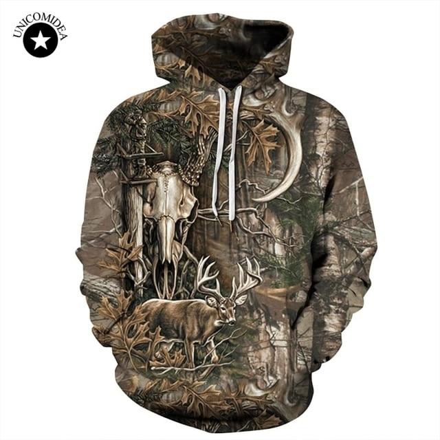 Forest Deer 3D Hoodies Men Women Hip Hop Sweatshirts Winter Autumn Hoody Pullover Tracksuits Casual Crewneck Hooded Streetwear