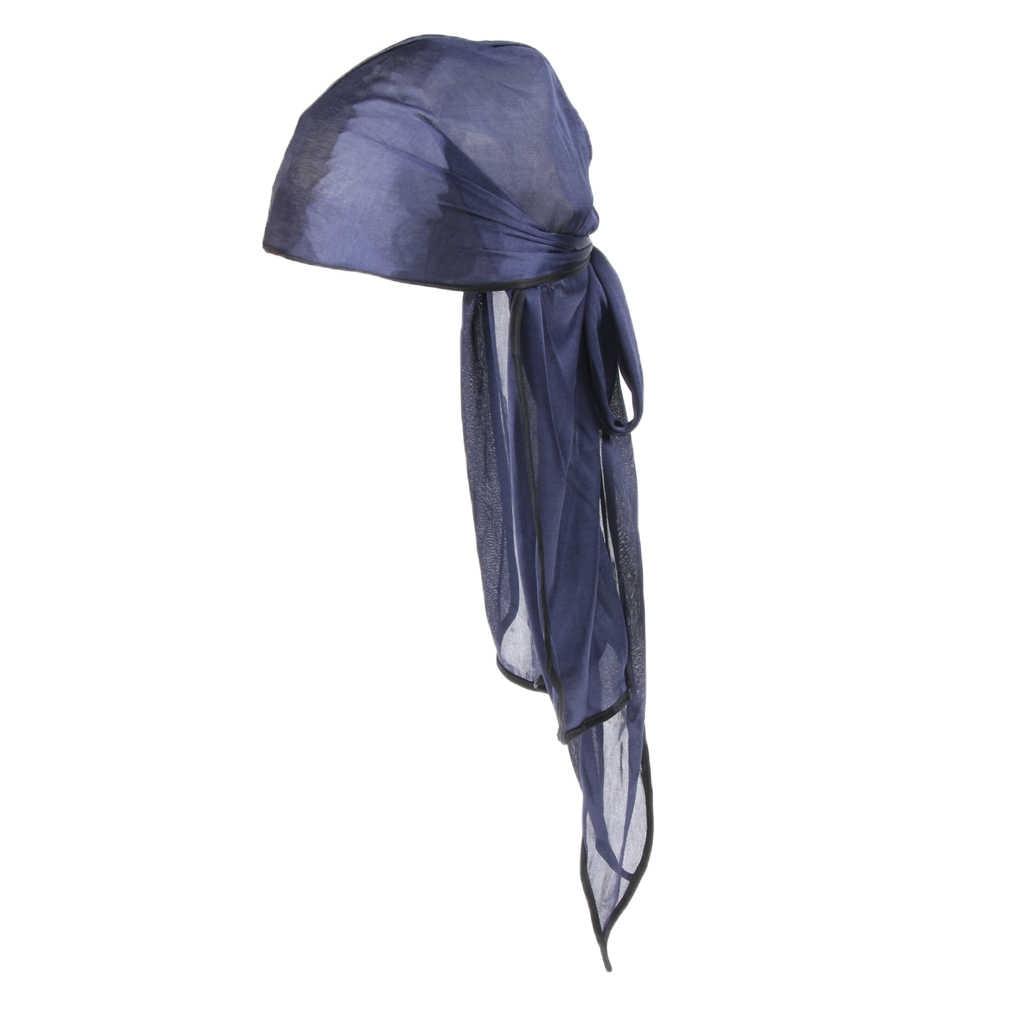 6 цветов однотонная шапка с длинным хвостом головной убор шелковистые шапки для женщин и мужчин мусульманский тюрбан головной убор для рака пациента