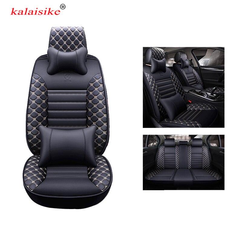 kalaisike universal leather car seat covers for Renault all models duster Captur megane clio laguna kadjar fluence scenic Koleos