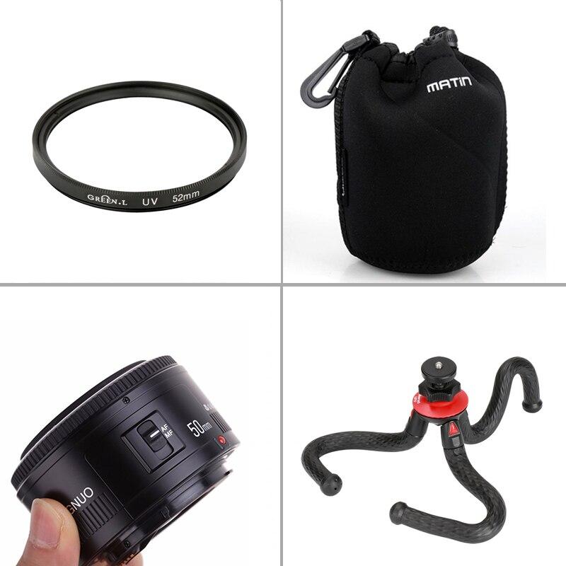 YONGNUO 50 MM YN50MM F1.8 pour objectif de mise au point fixe Canon objectif de mise au point automatique à grande ouverture pour appareil photo reflex numérique Canon 7/10/60/70